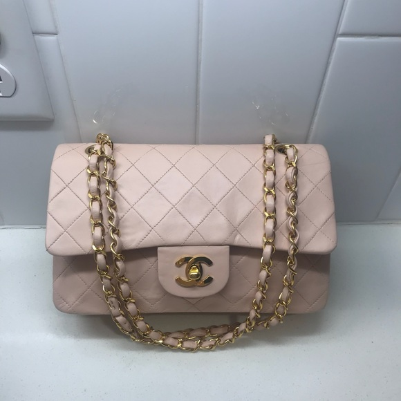 8a75f3b5b458 CHANEL Bags | Sold Auth Sm Pink Lambskin Double Flap | Poshmark